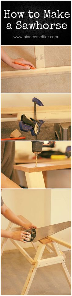 How To Make A Sawhorse