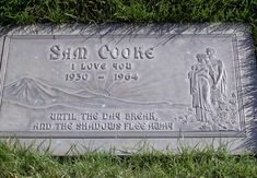 Great Singer loved his music Sam Cooke Grave Site