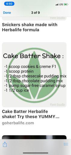 Chocolate Caramel Cheesecake, Caramel Brownies, Mint Chocolate, Herbalife Shake Recipes, Protein Shake Recipes, Protein Shakes, Cheesecake Shake Recipe, Cheesecake Pudding, Chocolate Herbalife Shakes