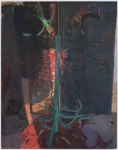 Sangram Majumdar, smoke and mirror, 84 x 66 in, oil on linen, 2012