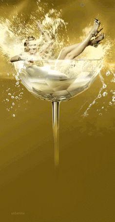 anbenna: Paco Rabanne - Lady Million - Eau My Gold Happy New Year Gif, Happy B Day, Happy Birthday Wishes, Birthday Greetings, Beautiful Gif, Beautiful Pictures, Beautiful Things, Paco Rabanne Lady Million, New Year Wishes