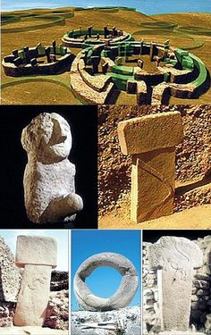 Gobekli Tepe. a more recent composite.  The top CG is what the structures originally looked like.