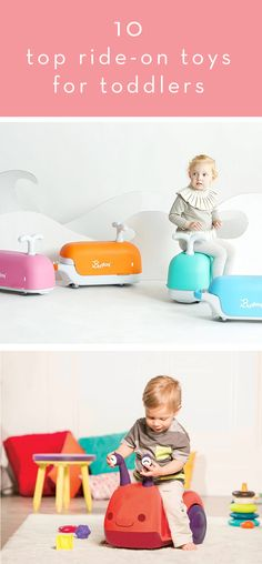 Ten Top Ride-On Toys for Toddlers | Thrifty Littles via @thriftylittles