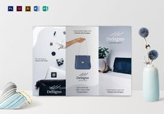 Brochure Template Word Fashion Brochure Template $35 Formats Included  Illustrator .