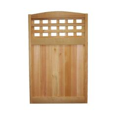 30 in. x 48 in. Checker Lattice Deluxe Arched Architectural Cedar Utility Panel, Arch Checker Ltc at The Home Depot - Mobile Lattice Fence Panels, Fence With Lattice Top, Metal Fence Panels, Corrugated Metal Fence, Cedar Fence Boards, Garbage Can, Western Red Cedar, Fenced In Yard, Home Depot