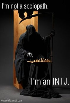 I'm not a sociopath. I'm an INTJ - do your research!  ;-)  #introvert