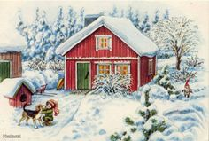 It's simple, free and blazing fast! Winter Looks, Elves, Scandinavian, Christmas Cards, Gnomes, House Styles, Simple, Painting, Porn