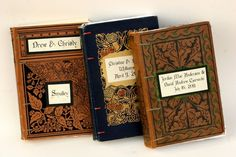Take a vintage book and makes it  into a  wedding guest book! ##Weddings #WeddingGuestBook