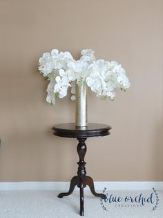 Silk Flower Arrangement with Vase Floral by blueorchidcreations