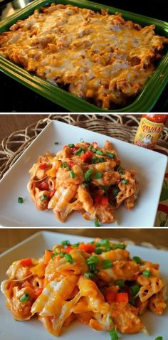 Exclusive Foods: Cheesy Chicken Enchilada Pasta- This can be made skinnier with light cheeses! Chicken Enchilada Pasta, Cheesy Chicken Enchiladas, Enchilada Sauce, Chicken Casserole, Chicken Tacos, Pasta Recipes, Chicken Recipes, Cooking Recipes, Casserole Recipes
