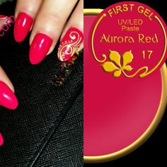 Aurora Red von First Gel mit Glitter  #nailing #nail #NailContact #nailart #nailjunkie #nailstagram #nails #nägel #notd #wonderful #edition #trend #unghie #instanails #redhair #red #redlipstick #art #style #fashion #pictureoftheday #lovenails #rednails #hand #manicure #mode  Feel free to follow us ♡♥♡♥¤♥¤ http://www.nailcontact.com/Online-Shop/First-Gel-Anna-Milay/First-Gel-Gelpaste-UV-LED-Aurora-Red-17---5g.html