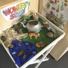 "Setting up a small world based on the popular story ""Wombat Stew"". I need to add…"