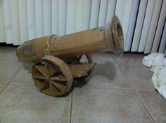Cannon made of cardboard for a pirate themed trunk-or-treat :) getting painted tomorrow!!!