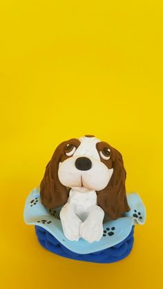 "This eye-catching and original Cavalier King Charles Spaniel cake topper will give your cake a quirky wow factor with this cute. So really there' s no excuse not to have it, right? Send me a photo of your dog to adjust the spots Beautiful decoration on your dog birthday cake or figurine for collectors...it is a perfect keepsake gift. Material: High quality and special non-toxic polymer clay. They last a lifetime. Dimensions: 2,3"" x 2,3"" (6 x 6 cm) Dog Cake Topper, Cake Toppers, King Charles Spaniel, Cavalier King Charles, Dog Birthday, Birthday Cake, Puppy Cake, Beautiful Decoration, Your Dog"