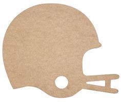 "9.75""H FOOTBALL HELMET - NATURAL  #football #helmet"