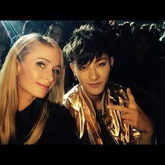 Tao's IG: #ShanghaiFashionWeek turnt up last night with beautiful DJ @ parishilton