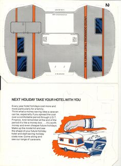 2 part printable plan for a vintage caravan saving money box. found on http://coolcaravanning.blogspot.co.uk/