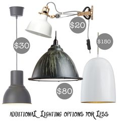 MORE Affordable Kitchen Lighting Ideas for a Modern, Rustic Farmhouse