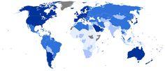 UN Human Development Report Quartiles