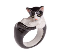 Black & White Cat Ring | And Mary