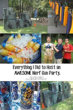 All you need to know about throwing a Nerf Gun party! - Ideas of Nerf Gun - All you need to know about throwing a Nerf Gun party! Nerf Birthday Party, Nerf Party, Boy Birthday, Birthday Ideas, Party Games, Happy Birthday, Battle Party, Pistola Nerf, Paintball Party