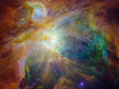 Orion Nebula Chaos.  Baby stars creating chaos 1,500 light-years away in the cosmic cloud of the Orion Nebula. Photo by NASA, via  Wired (http://www.wired.com/wiredscience/2012/02/space-photo-of-the-day/?pid=3571#).