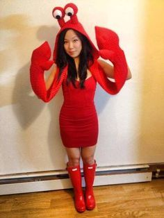 Crab costume pinteres fucked up knitting more information more information diy sebastian crab costume solutioingenieria