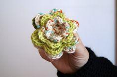 Crochet flower brooch by knittingcate on Etsy, $10.00