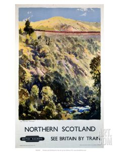 Northern Scotland, BR (ScR), c.1948-1965 Art Print at Art.com