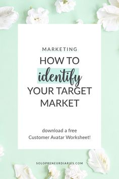 Are you trying to reach everyone in your business? You can't. You need to identify your ideal clients and then target your marketing to them. Click through for easy advice on how to identify your target market. It's a key part of your small business marketing strategy. Plus, grab a free worksheet to help you create your ideal customer avatar! | Business Tips Online Marketing Strategies, Content Marketing Strategy, Marketing Data, Business Marketing, Media Marketing, Online Business, Online Entrepreneur, Business Entrepreneur, Business Planner