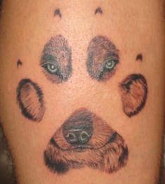 Awesome Wolf Paw Tattoo