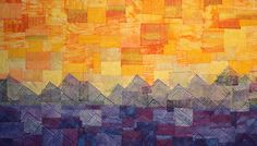 Living and Dyeing Under the Big Sky: Sunset Quilting