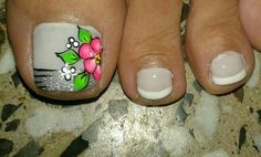 Uñas decoradas Fancy Nails, Diy Nails, Pretty Nails, Pedicure Designs, Toe Nail Designs, Cute Pedicures, Manicure And Pedicure, Nails Only, Feet Nails