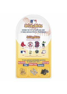 Boston Red Sox Shrinky Dinks