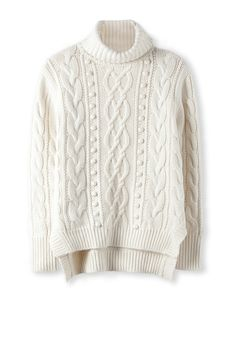Cable Roll Neck Knit