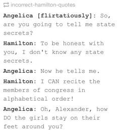 Hamilton/West Wing: So perfect