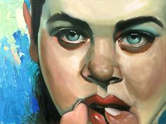 #oil painting - 80x60 (tribute to Malcolm Liepke)