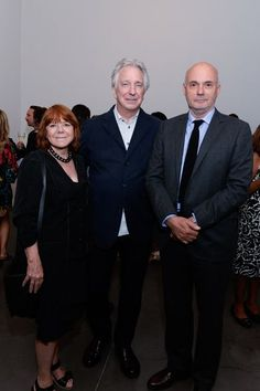 Brigitte Lacombe Exhibition opening at Phillips, New York, America - 15 Jun 2015  Rima Horton, Alan Rickman and Gregory Mosher