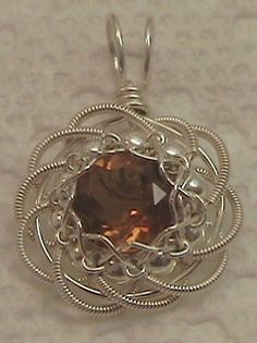 Golden Rose Citrine with Silver petals by BrandavirJewelry on Etsy, $47.00