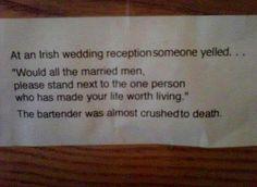 Irish weddings...