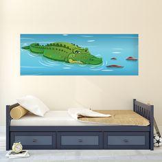 Décor crocodile géant Jojo le croco