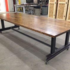 office tables on wheels. Brilliant Tables Conference Tables Maple Butcherblock Treated With Iron And Vinegar  Blackened Steel Bases  NKBuild  Furn Pinterest Iron Steel Room Throughout Office Tables On Wheels