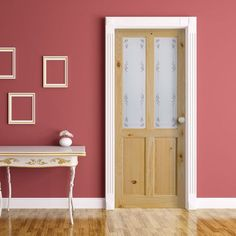Richmond Knotty Pine Door with Bluebell Safety Glass. #interiordesign #interior #home #traditional