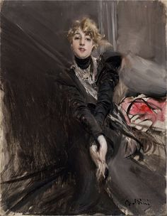 Portrait of the actress Jeanne Renouardt by Giovanni Boldini, c. 1910
