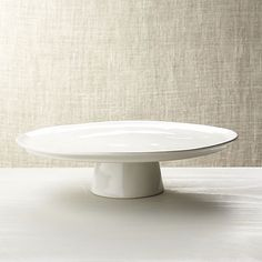 Marin White Large Cake Stand in Marin Dinnerware Serving Pieces | Crate and Barrel