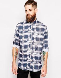 nANA jUDY Shirt In Check Print - Blue