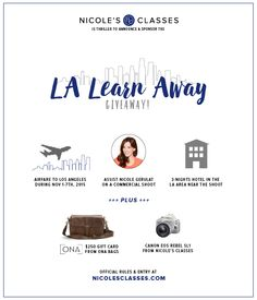 Enter to win the LA Learn Away Giveaway with Nicole's Classes!
