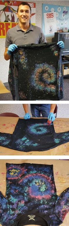We love these DIY Galaxy shirts! In just 6 easy steps you can turn an ordinary shirt into a star filled galaxy. A great group activity for any age. Perfect for the 2017 Galactic VBS theme!