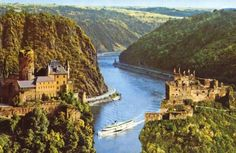 Rhein River, Germany... Tons of awesome sceneries while cruising the long river ... lots of castles and vineyards