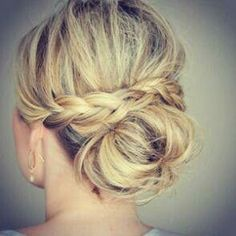 bun with wrapped braid